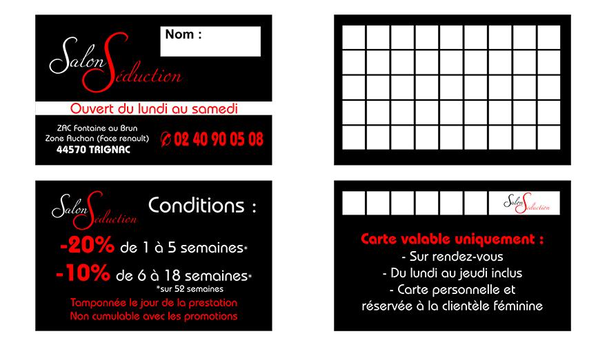 Visite Recto 54x85mm Carte Fidlit 2 Volets Verso
